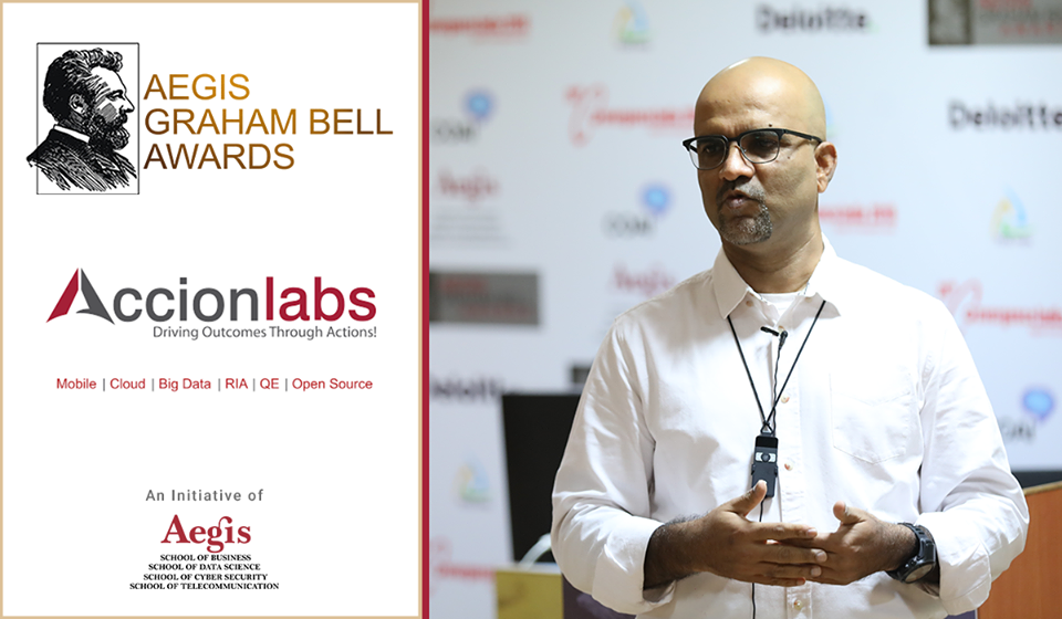 Accion Labs presents its innovation at the Aegis Graham Bell Award Jury Round Day 6