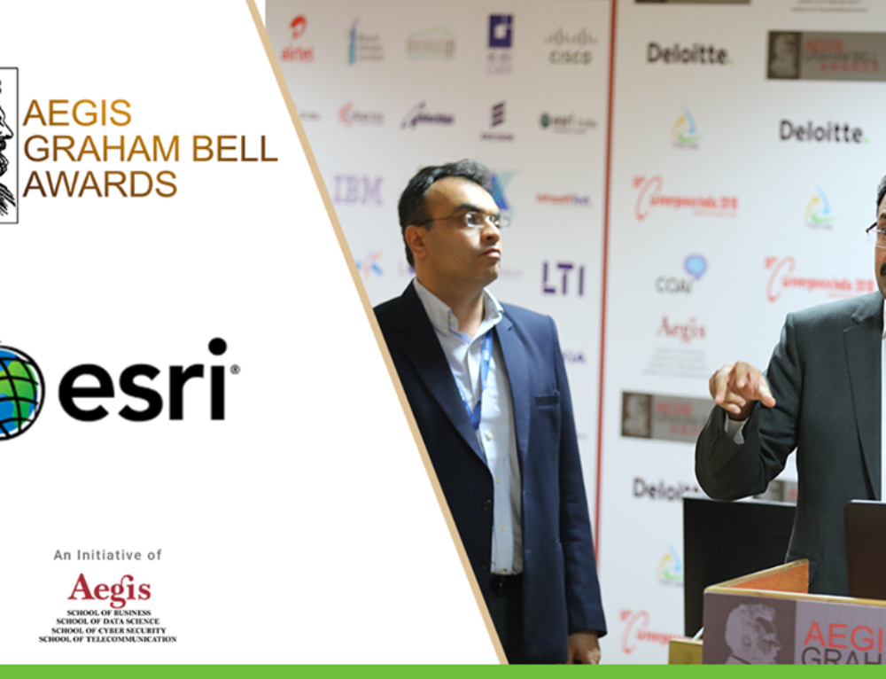 Esri India Technologies presents its innovation at the Aegis Graham Bell Award Jury Round Day 6