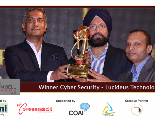 Lucideus Tech Announced as Winner at the 8th edition of Aegis Graham Bell Awards