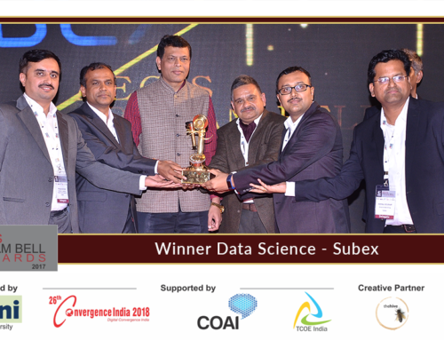 Subex Announced as Winner at the 8th edition of Aegis Graham Bell Awards in the Data Science Category