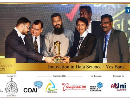 YES BANK bags prestigious Aegis Graham Bell Award 2018 for 'Innovation in Data Science'